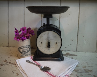 Antique Scale - Vintage Scale - Rare Hughes Salter Scale - Rustic Scale - Vintage Scales - Farmhouse Decor - Salter Household Scales - Scale