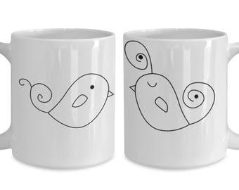 Lovebirds Valentine's Coffee Mugs