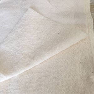 """Cotton Natural Batting Fabric Material --1/2 yard--45"""" Wide"""