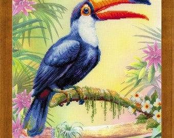 Toucan cross stitch kit by RIOLIS Ref. no.: 0077 PT