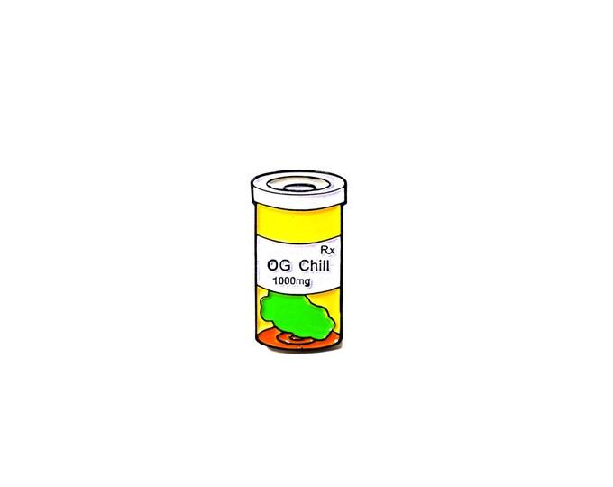 OG Chill pin: ORANGE CRUSH
