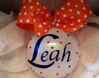 Personalized ornament for your cheer leader, cheer team, cheer squad, cheerleader, school cheer, all-star cheer