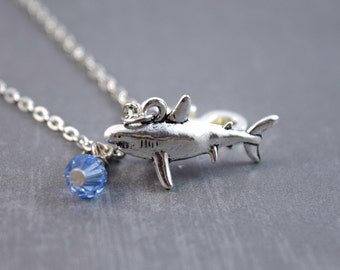Shark Necklace - Shark Jewelry - Sealife Necklace - Shark Pendant - Personalized Necklace - Ocean Jewelry - Animal Necklace - Fish Necklace