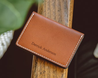 Personalized Leather Wallet Bifold, Men's Leather Bifold Wallet, Billfold Wallet, Personalized Leather Wallet For Men