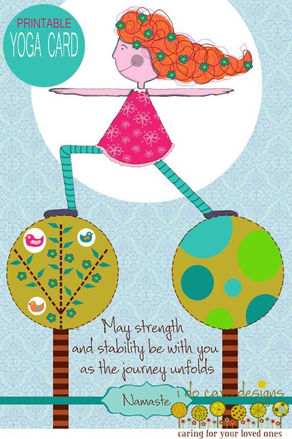 Printable yoga birthday card yoga birthday card printable zoom bookmarktalkfo Image collections