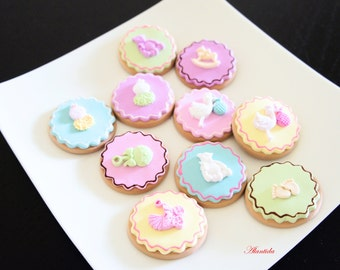 Handmade Fake Cookies,Set of 10 Faux Cookies,Baby Shower Gift,Photography Props,
