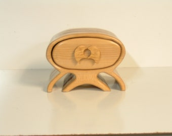 ALIEN JEWELRY BOX--Maple, Redwood--One Drawer with Lift out Tray