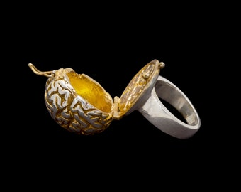 Gilded Brain Ring