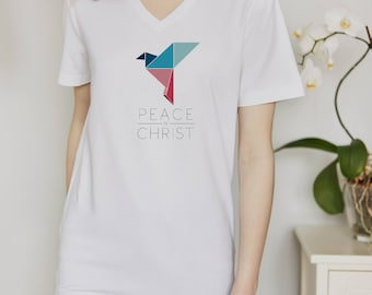 LDS Mutual Theme TShirt Design, Young Women, Young Men, Mutual Theme, 2018, Peace in Christ, Gender Neutral Origami Design for Tshirt