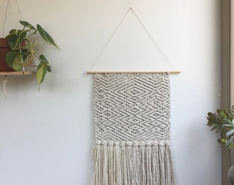 Cotton Patterned Woven Wall Hanging