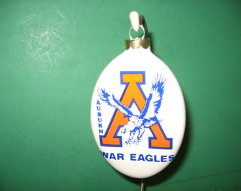 Auburn War Eagle oval ceramic hanging ornament...Awesome
