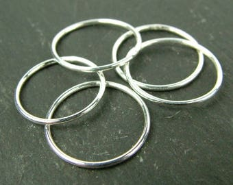 Sterling Silver Stacking Ring 15mm ~ Size D