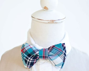 Bow Tie, Boys Bow Tie, Bow Ties, Baby Bow Ties, Bowtie, Bowties, Ring Bearer, Bow ties For Boys, Ties, Christmas  - Navy, Blue, Red Plaid