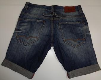 """Mens Diesel denim shorts , dark blue 34"""" Waist"""