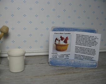 playscale 1/6 1:6 miniature cookbook barbie dollhouse baking fashion doll blythe