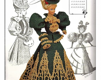 The Gibson Girl Collection of the Gay Nineties December Fashion Doll  Crochet Pattern  Annies Calendar Bed Doll Society 7712