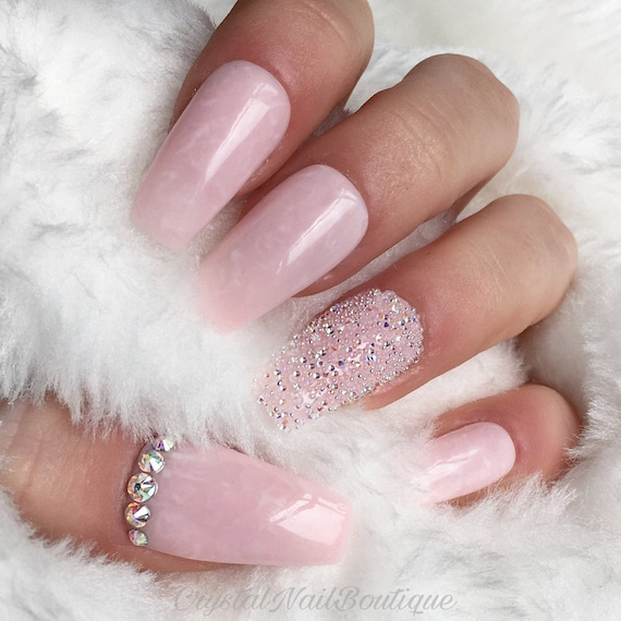 light pink nails - HD 1275×1275