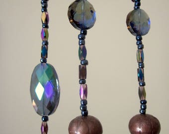 Hanging Beaded Mystic Moon Sun Catching Mobile