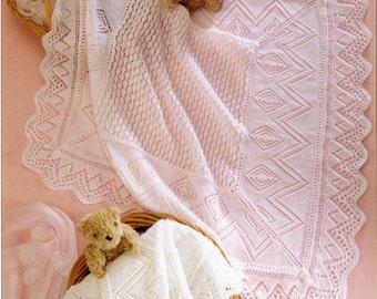 Knit Vintage Pattern Baby Pram Cover Throw Afghan blanket newborn wrap bedspread shawl comforter granny lapghan pdf instant download