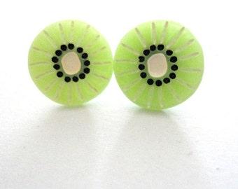 Earrings Kiwi green