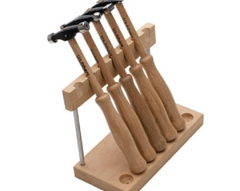 Artisan's Mark 5 piece hammer set with stand