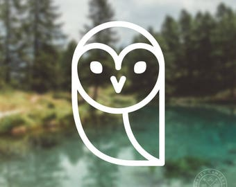Owl Icon Vinyl Decal | Water Bottle Decal | Car Window Decal | Laptop Decal
