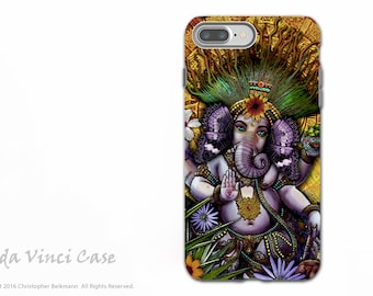 Ganesha Maya - iPhone 7 PLUS - 8 PLUS Tough Case - Dual Layer Protection - Hindu Mayan Ganesh artwork