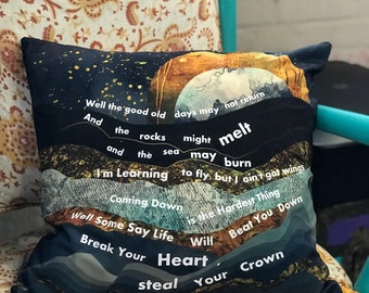 Tom Petty Pillow Cover, Learning to Fly, Tom Petty Music