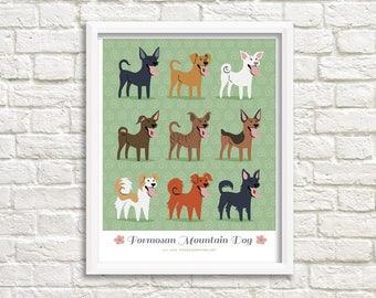 FORMOSAN MOUNTAIN DOG breed - art print