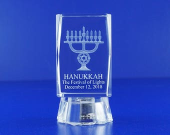 Hanukkah (12 PCS) Jewish Holiday Personalize Custom Etched Laser Engraving 085L