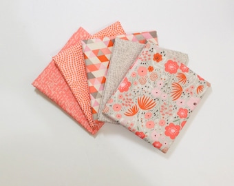 Fat Quarter Bundle Ava Rose by Deena Rutter for Riley Blake Designs- 5 Fabrics