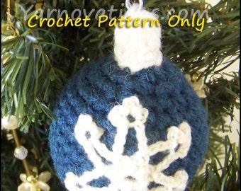 Snowflake Ornament & More Christmas Balls Christmas Ornaments - Crochet Pattern