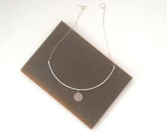 Kate - Oxytocin Charm Choker/Bib Necklace in Sterling Silver