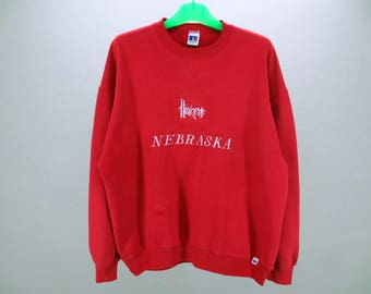 Huskers Sweatshirt Men Size XL Vintage Nebraska Huskers Pullover 90s Huskers Vintage NFL Sweat by Russell Made in USA