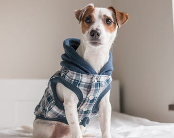 Flannel Fleece Dog hoodie, Custom Fleece dog coat, Puppy Coat, Sweaters for dogs, Dog flannel jacket, Dog winter coat, Limited Edition