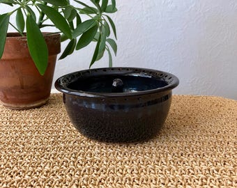 Navy Pottery Ring Dish