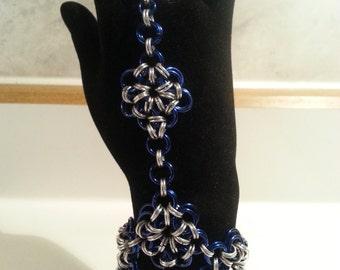 Flower Chain Maille Slave Bracelet