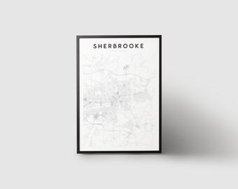 Sherbrooke Map Print