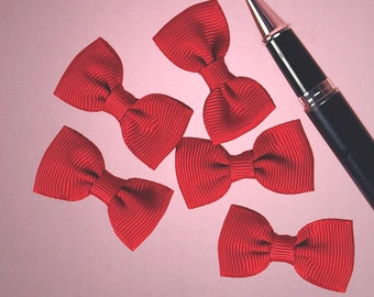 "25ct. Tiny Red Grosgrain Classic Bow Ties 7/8"" x 1-5/8"" (FREE SHIPPING!)"