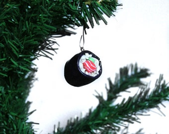 Sushi Ornament Christmas Ornament Sushi Roll