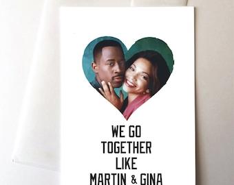 Martin & Gina Love Card, 90s, nostalgia