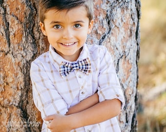 Plaid Bow Tie, Cotton Bow Tie, Baby Bow Tie, Kids Bow Tie, Toddler Bow Tie, Baby Bow Tie, Ring Bearer Bow Tie, Holiday Bow Tie, Family Photo