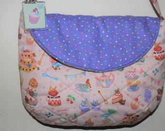 Princess Tea Party Fabric Soft Kawaii Cute Shoulder Bag