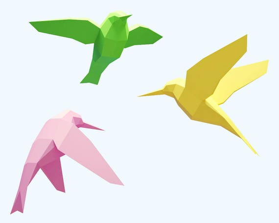 papercraft birds how to make 3d paper craft paper sculpture pattern diy gift paper model pdf template kit low poly birdanimal pepakura from inartcraft