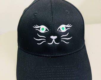 Cat Hat, Cat Face hat, Kitty hat, Cat Eyes, Feminist hat, Cat Lady, Womens March, Whiskers hat
