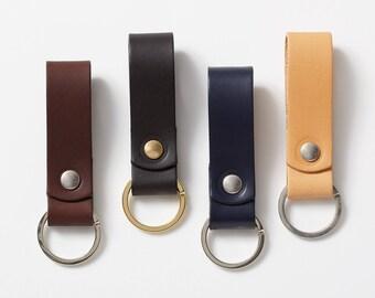 Leather Key Fob - Dark brown