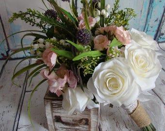 Rustic Bouquet, Rustic Pink Wildflower Bouquet, Rustic Boho Bouquet, Wild Flower Bouquet, Wildflower Boho Bouquet,