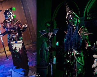 RESERVED Warlock tier 10 Dark Coven's Regalia world of warcraft blizzard cosplay game costume