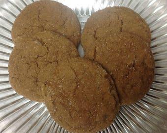 Soft Gingerbread Cookies - Homemade, 1 Dozen