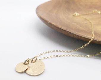 Mommy pendant etsy mommy necklace gold disc necklace pendant necklace hand stamped jewelry new mom aloadofball Gallery